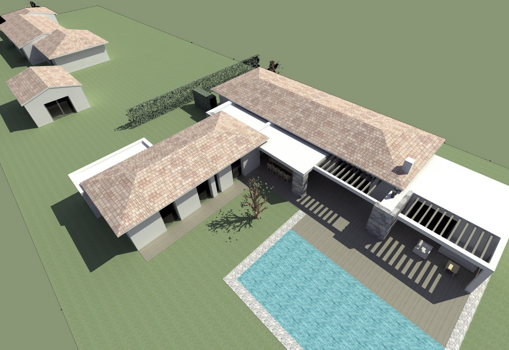 Maison corse du sud perfect villa enau porto vecchio with - Plan architecte 3d ...